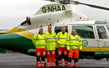 How Great North Air Ambulance Service worked with Give as you Live